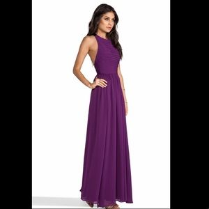 Alice + Olivia Runie Ruched Bodice Prom Maxi Dress